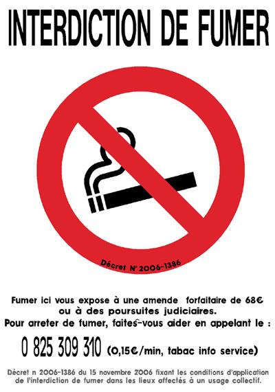Appliquer linterdiction de fumer / vapoter dans les lieux