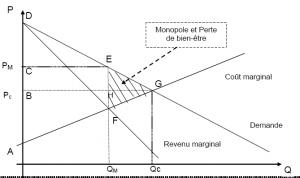 Economiquement un monopole conduit inévitablement à une perte de bien être