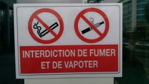 Trouvera-t-on bientôt ce panneau d'interdiction de vapoter dans tous les lieux publics ?