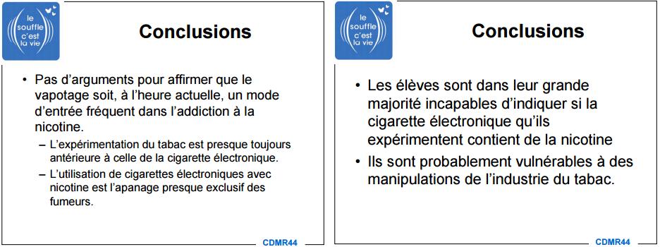 La cigarette électronique n'est pas addictive pour les ados