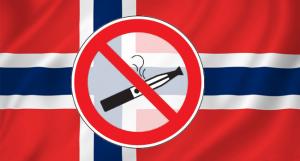Drapeau norvégien avec interdiction de vapoter