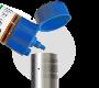 Versement de l'e-liquide dans le clearo